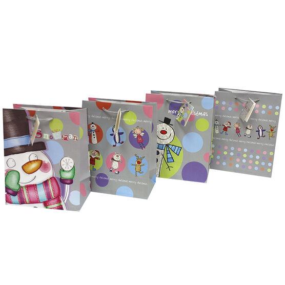 Christmas Medium Pastel Gift Bag - Assorted