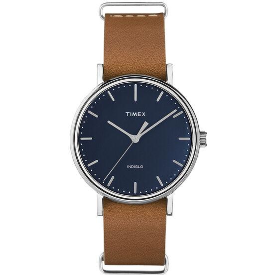 Timex Weekender Fairfield Watch - Blue/Tan -TW2P98300GP