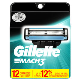 Gillette Mach3 Cartridges - 12's