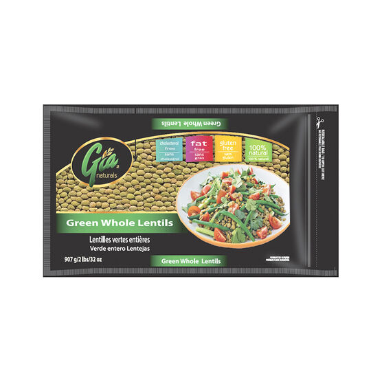 Gia Naturals -Green Whole Lentils - 907g