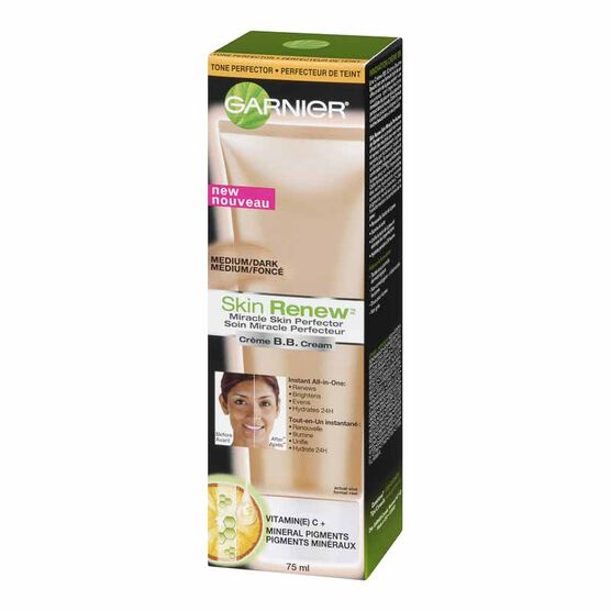 Garnier Skin Renew BB Cream Miracle Skin Perfector - Medium/Dark - 75ml