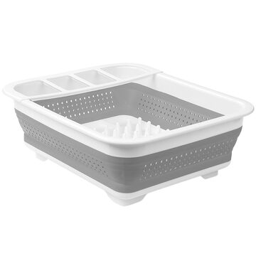Madesmart Collapsible Dish Rack - White