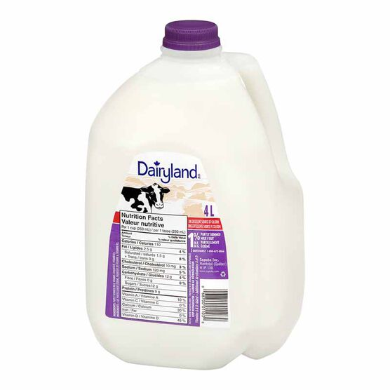 Dairyland 1% Milk - 4L