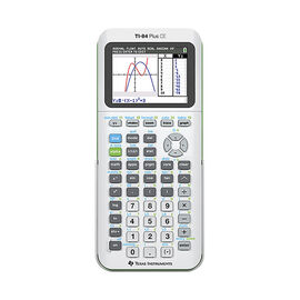 TI 84 Plus CE Graphing Calculator - White - 84PLCE/TBL/2L1/W