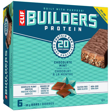 Clif Builder's Protein Bar - Chocolate Mint - 6 x 68g