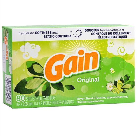 Gain Fabric Softener Sheets - Original - 80's