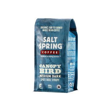 Salt Spring Organic Whole Bean Coffee - Canopy Bird - 400g