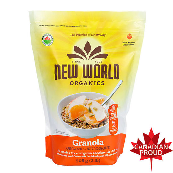 New World Organic Pumpkin Flax Granola - 908g