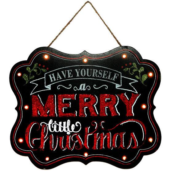 Christmas Forever Merry Little Christmas LED Sign - 13x11in - XM-JC5092