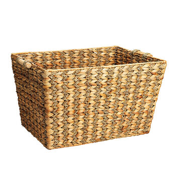 London Drugs Water Hyacinth Seagrass V Weave Basket
