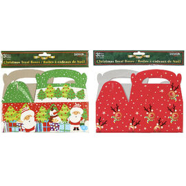 Danson Christmas Paper Treat Boxes - 3 pack