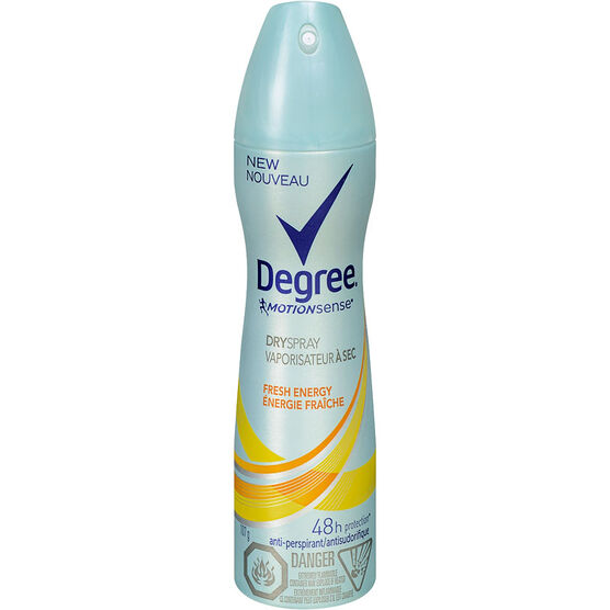 Degree Women MotionSense Fresh Energy Dry Spray Antiperspirant - 107g