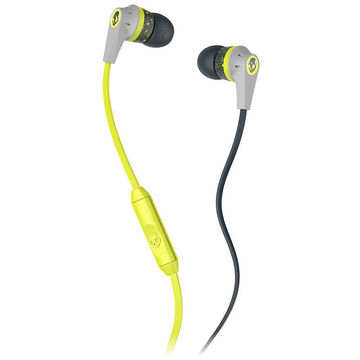 Skullcandy Ink'd 2.0 with Mic - Lime/Grey - S2IKGY385