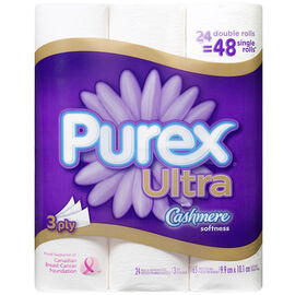 Purex Ultra Double Roll with Cashmere Bathroom Tissue - 24's