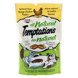 Whiskas Temptations Treats for Cats - All Natural - Free-Range Chicken - 70g