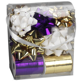Winter Wishes Bow and Ribbon Set - 16 pieces