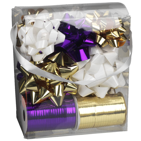 Winter Wishes Elegance Bow and Ribbon Set - 16 pieces