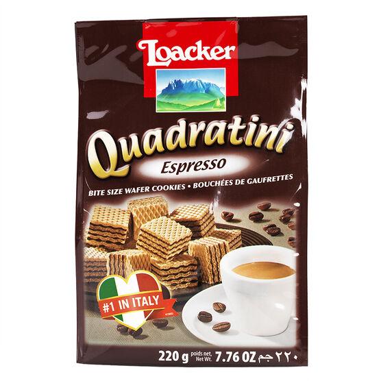 Loacker Quadratini - Espresso - 220g