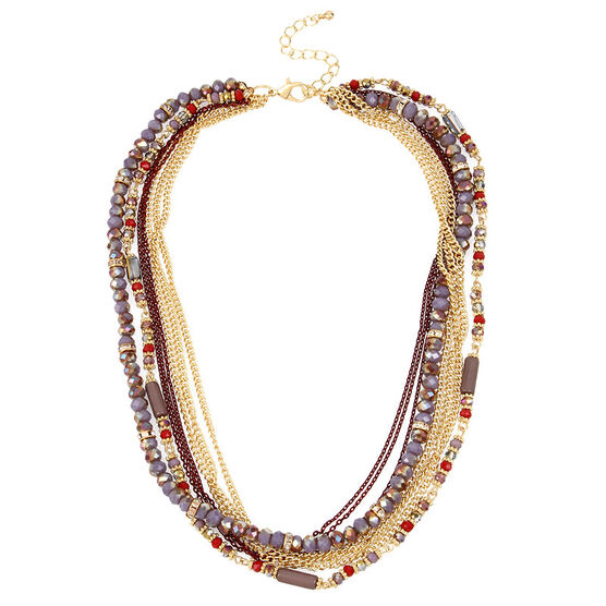 Haskell Layered Beaded Necklace - Multi