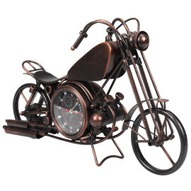London Drugs Metal Motorcycle Desk Clock - Antique Brass - Assorted