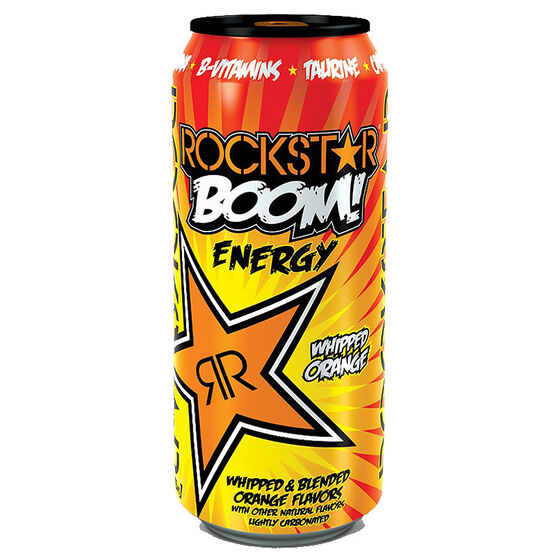 Rockstar Boom Energy Drink - Whipped Orange - 473ml