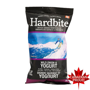 Hardbite Kettle-Cooked Potato Chips - Wild Onion & Yogurt - 150g
