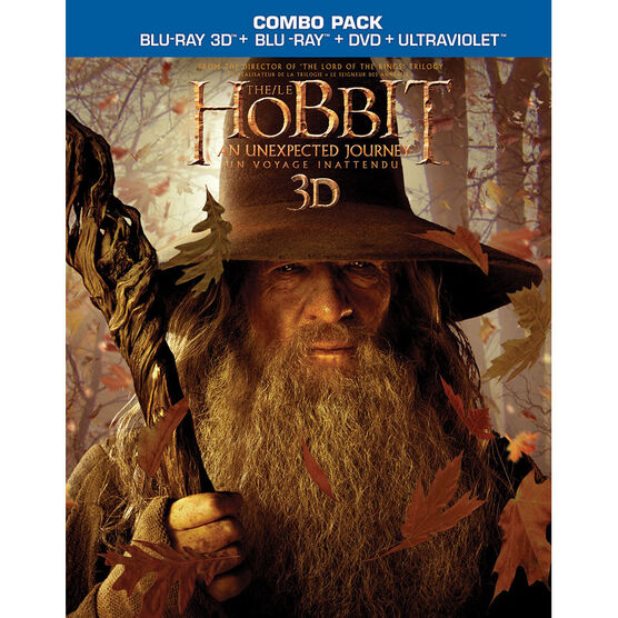 The Hobbit: An Unexpected Journey - 3D Blu-ray + Blu-ray + DVD + Digital Copy + Ultraviolet
