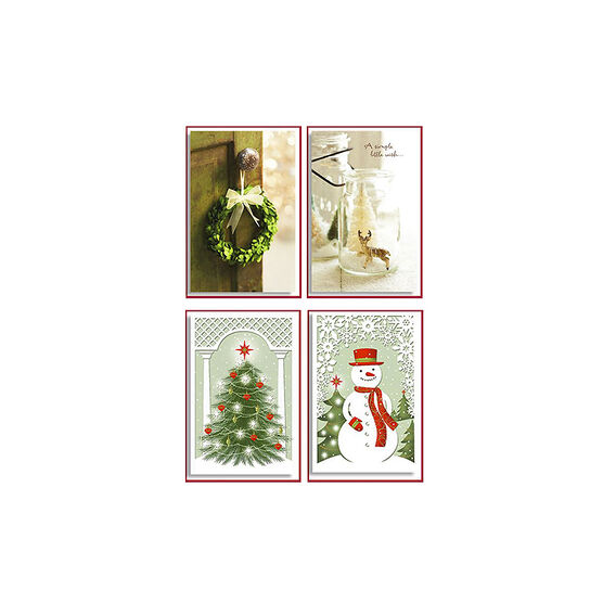 American Greetings Deluxe Christmas Cards - Photo/Decorative - 14 count - Assorted