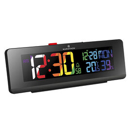 Marathon Colour Change Clock - Black - CL030063BK