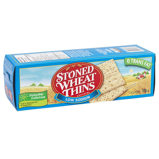 Stoned Wheat Thins - 50% Less Salt - 300g