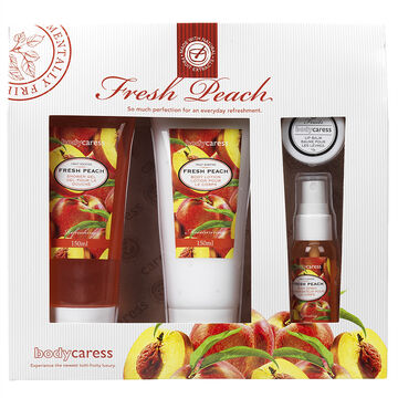 BodyCaress Bath Gift Set - Fresh Peach - 4 piece