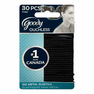 Goody Ouchless Elastics - Black - Large - 30's