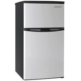 Sylvania 3.2 cu.ft. 2-Door Stainless Steel Fridge  - SFR834