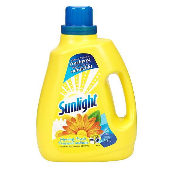 Sunlight 2X HE Liquid Laundry Detergent - Morning Fresh - 2.95L/64 Uses