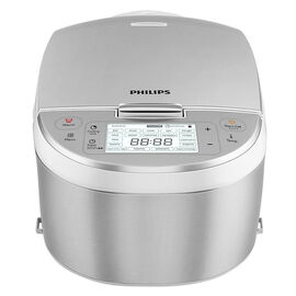 Philips Variety Rice Cooker - Stainless Steel/White - HD3095/87