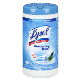 Lysol Disinfecting Wipes - Spring Waterfall - 80's