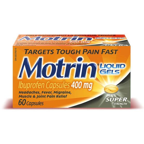 Motrin IB Liquid Gels - Super Strength 400mg - 60's
