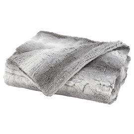 Sunbeam Faux Fur Throw - Grey and White - TSP8VP-R885