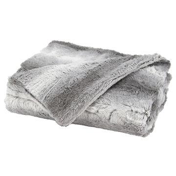 Sunbeam Faux Fur Throw - Grey and White - TSP8VP-R885