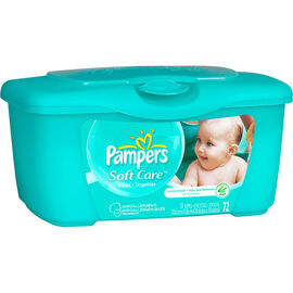 Pampers Soft Care Wipes - Unscented - 72's