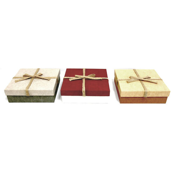 Christmas Specialty Square Boxes - Medium - 2403 - Assorted