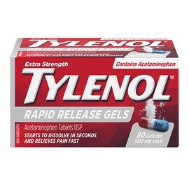 Tylenol* Rapid Release Gelcaps Extra Strength - 500mg - 80's