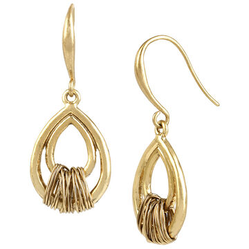 Robert Lee Morris Wire Wrapped Drop Earrings - Bronze/Gold Plated