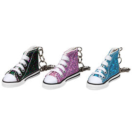 High Top Glitter Sneaker Keychain - Assorted