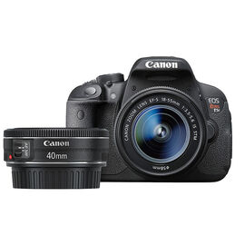 Canon Rebel T5i with 18-55mm and 40mm Lens