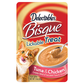 Delectables Bisque Lickable Treat - Tuna and Chicken - 40g