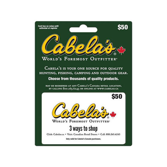 Cabelas Gift Card - $50