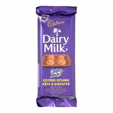 Cadbury Dairy Milk Chocolate Bar - Chips Ahoy Cookie Dough Pieces - 100g