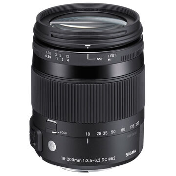 Sigma Contemporary 18-200mm F3.5-6.3 DC OS HSM Lens For Canon - COS18200C