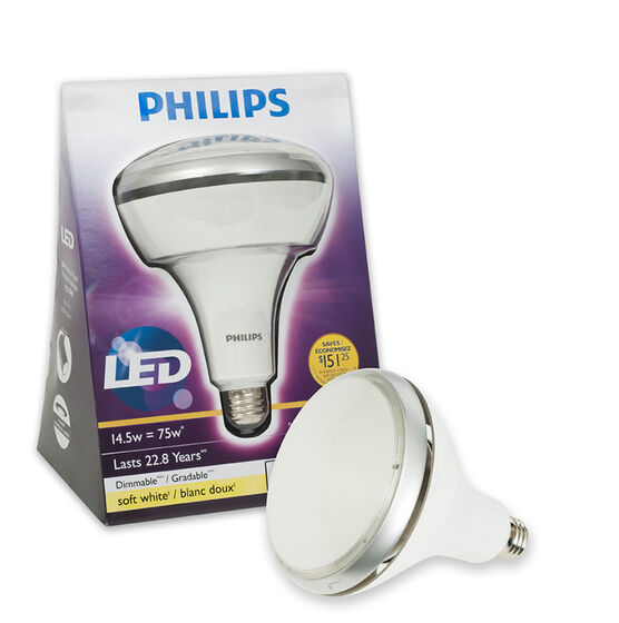 Philips LED BR40 75W Dimmable Lightbulb - Soft White